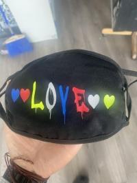 Multicolored Love Face Mask